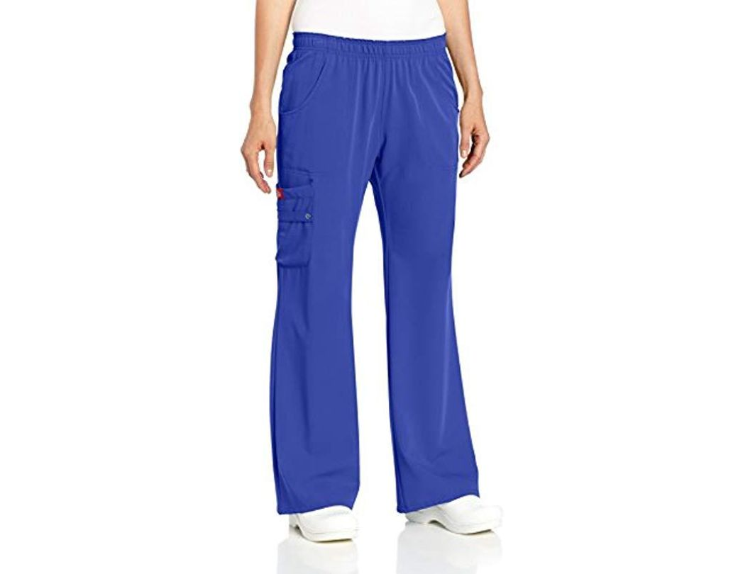 8132b1bfc53 Lyst - Dickies Xtreme Stretch Elastic Waist Scrubs Pant in Blue