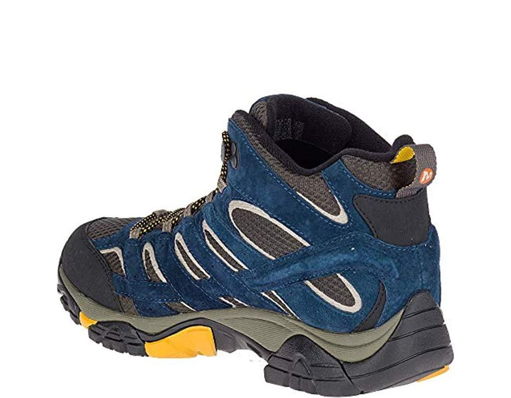 442244091 Merrell Moab 2 Mid Waterproof Hiking Boot in Blue for Men - Lyst