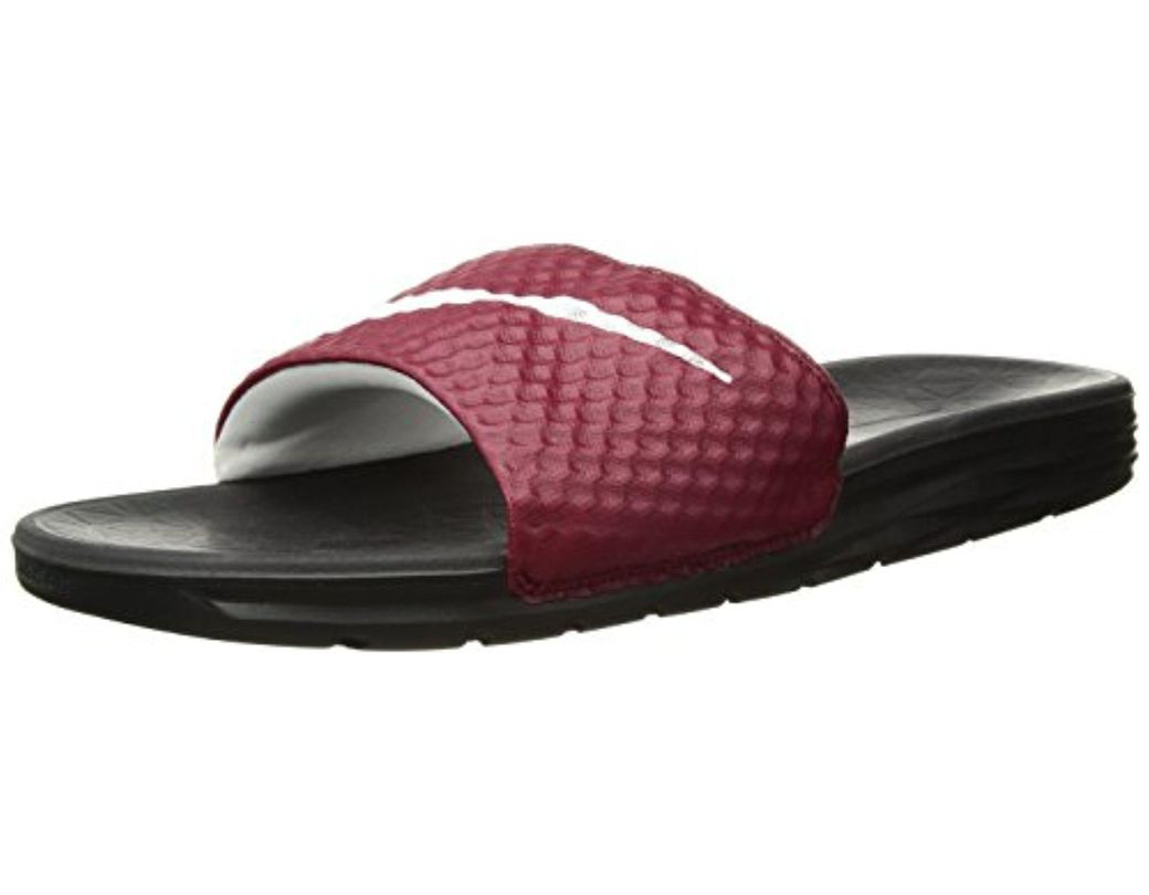 0aa4c82137b7 Lyst - Nike Benassi Solarsoft Slide Sandal in Red for Men