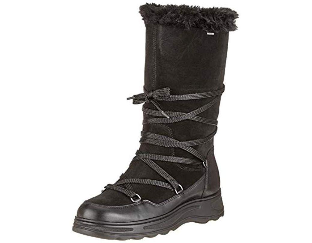 1db9d845ada Geox D Hosmos B Abx B Snow Boots in Black - Save 38% - Lyst
