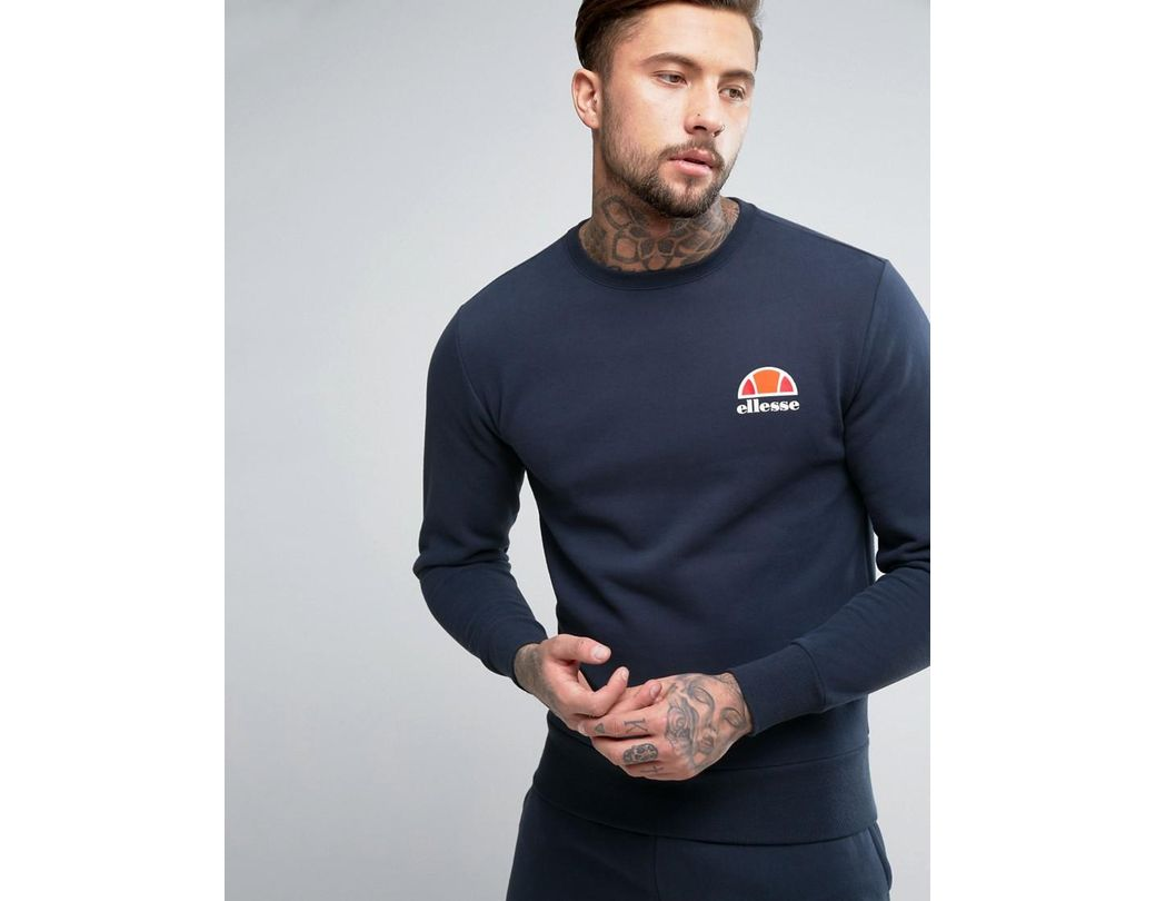 c76046f1 Lyst - Ellesse Sweatshirt With Small Logo In Navy in Blue for Men