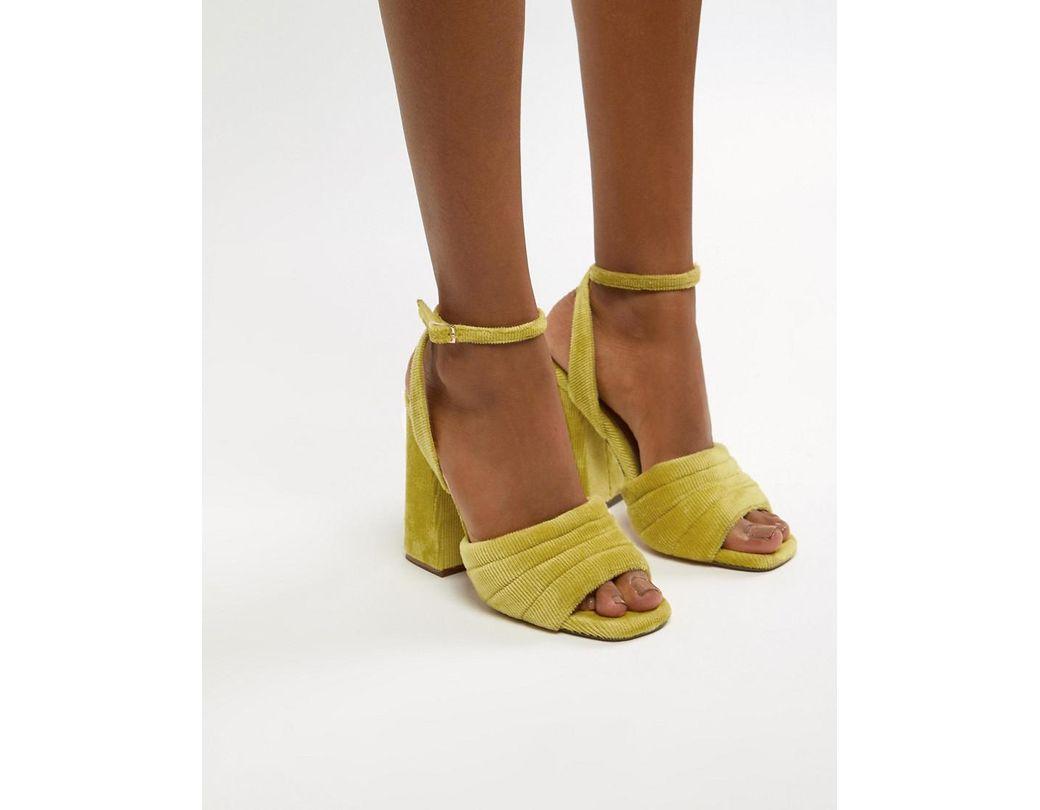 f9fe3bc405b0 Lyst - ASOS Haiku Padded Block Heeled Sandals in Yellow