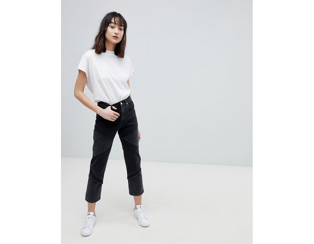 da55c7a647e2cc Lyst - ASOS Florence Authentic Straight Leg Jeans In Cut About ...