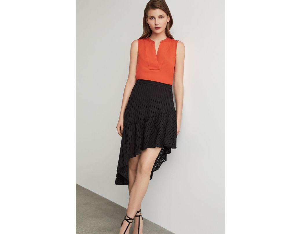 BCBGMAXAZRIA Womens Lindsey Side Ruffle Tulip Skirt