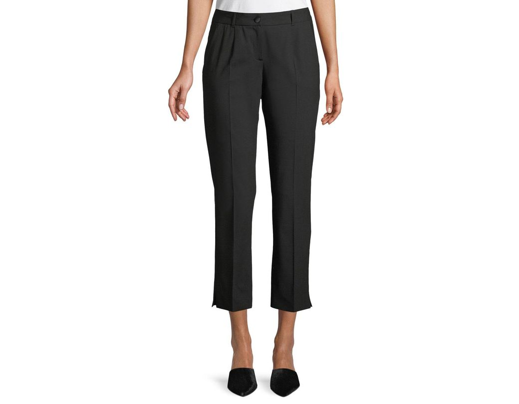 bce3df2ea67 Dolce & Gabbana Kate Cropped Straight-leg Classic Stretch-wool Pants in  Black - Lyst