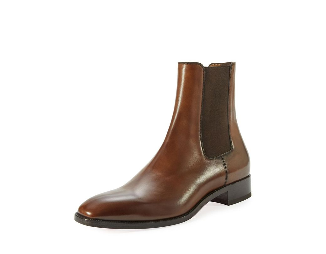 84457f126626 Lyst - Christian Louboutin Samson Men s Burnished Leather Boot in Brown for  Men