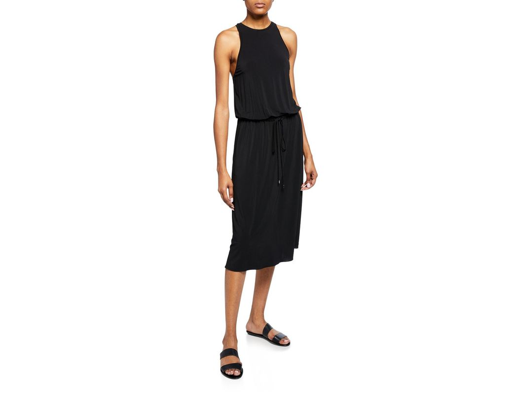 ab10ac6457e9 Long-Touch to Zoom. Long-Touch to Zoom. 1; 2. Theory - Black High-neck  Sleeveless Midi Dress ...