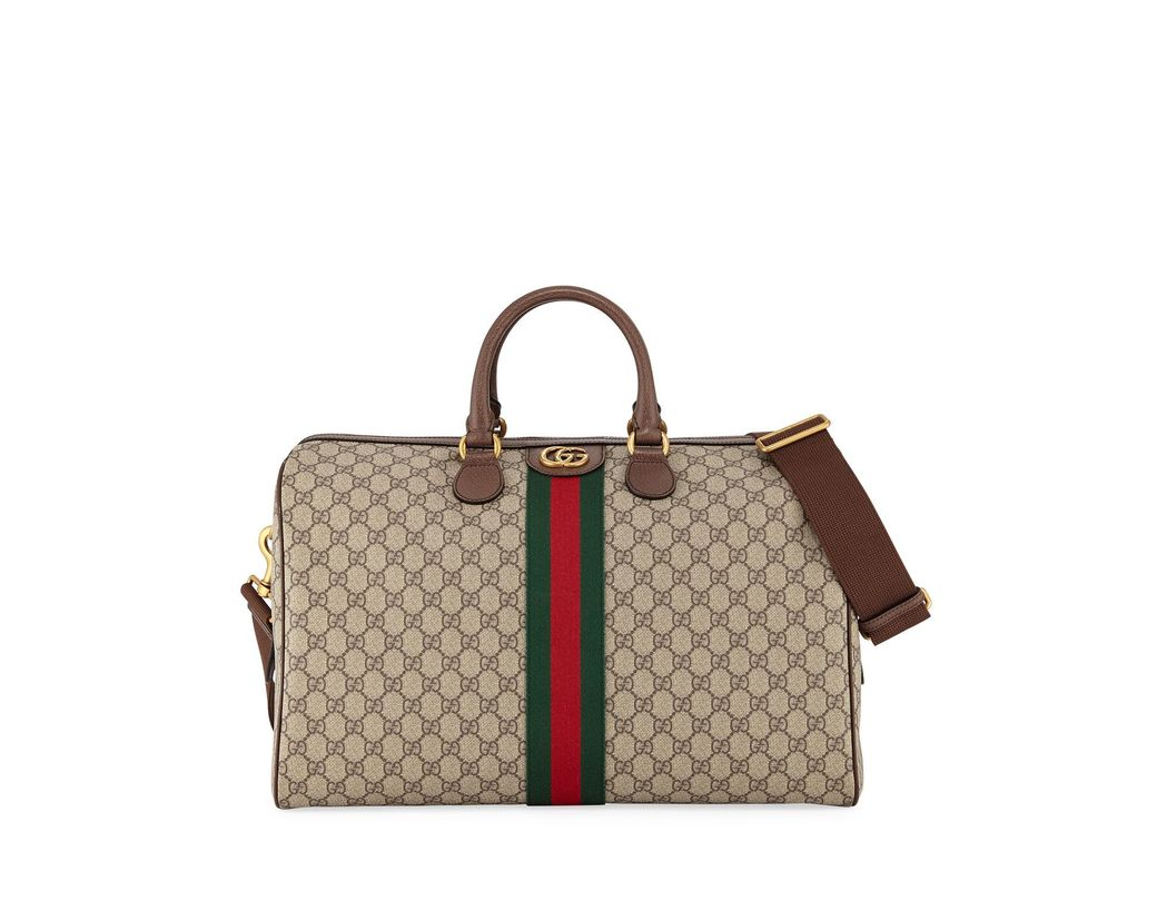 66a0f9fccbc Lyst - Gucci Men s Soft GG Supreme Carry-on Duffel Bag in Natural ...