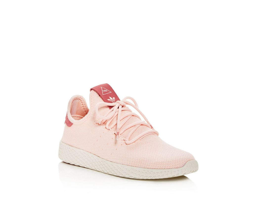 0d9e3d1f3b2d8 Lyst - adidas Women s Pharrell Williams Hu Lace Up Sneakers in Pink