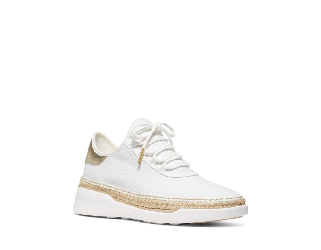 73fbfcbb667a MICHAEL Michael Kors Women s Finch Lace-up Sneakers in White - Save ...