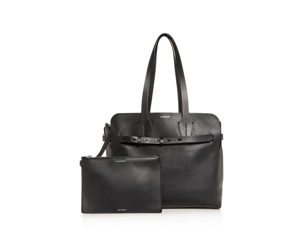 0ea8a847c343 Lyst - Burberry Medium Soft Leather Belt Bag in Black