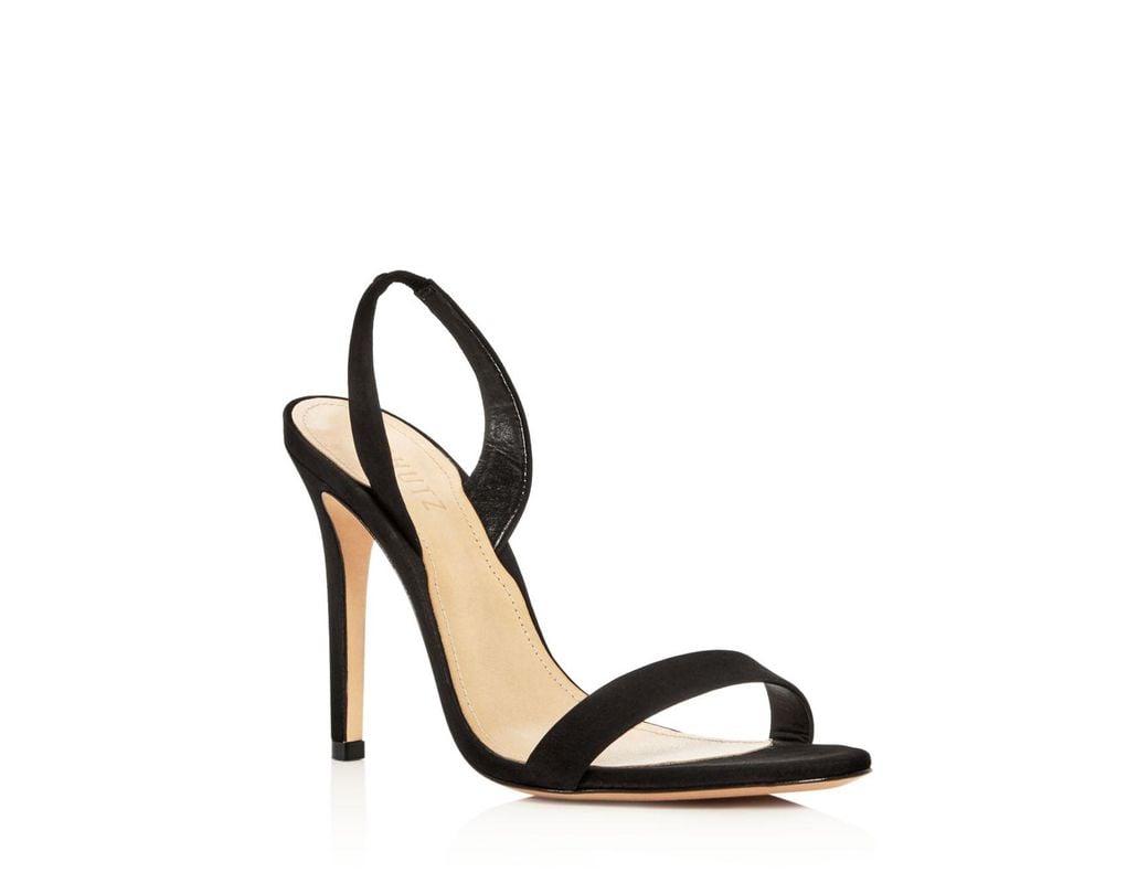 ebeeee8e38d1 Lyst - Schutz Luriane Suede Slingback Sandals in Black - Save 6%