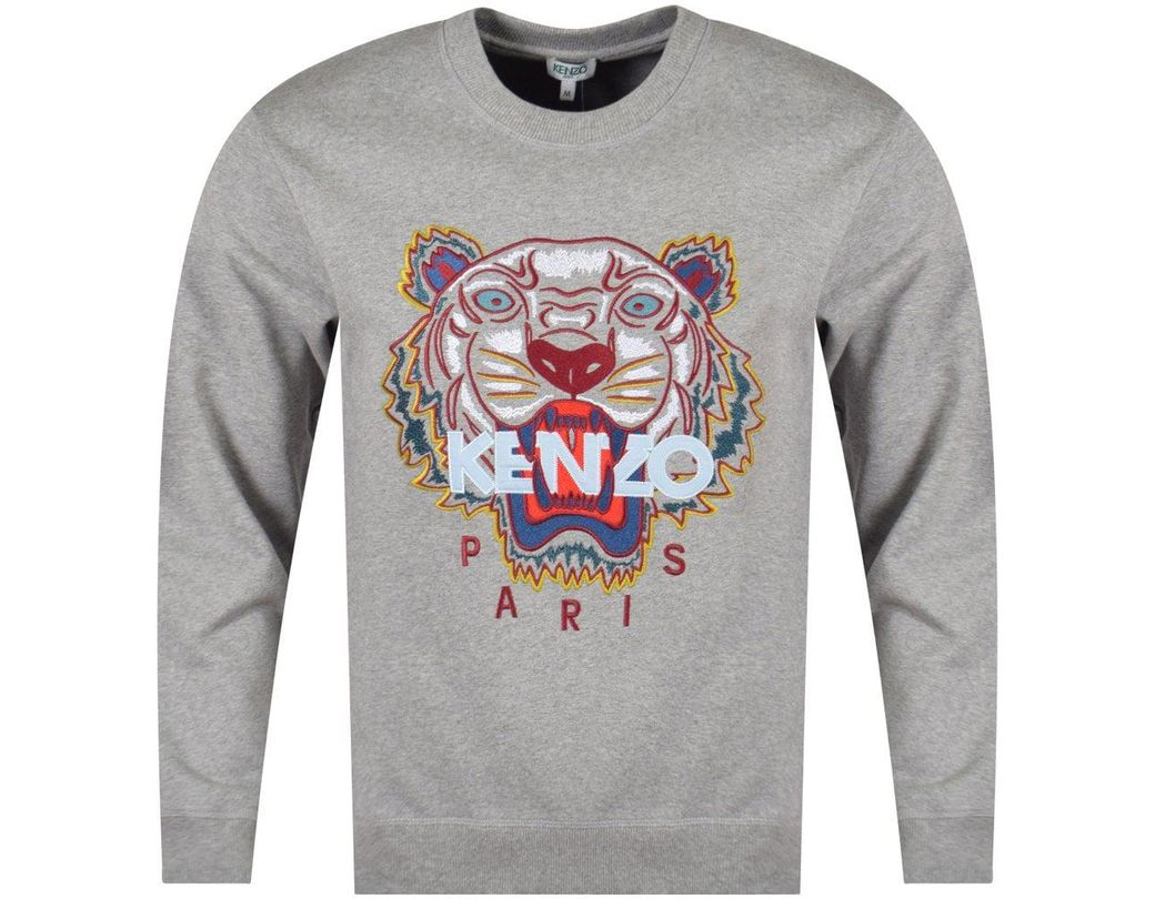 7241c011e93fd KENZO Grey Tiger Sweatshirt in Gray for Men - Lyst