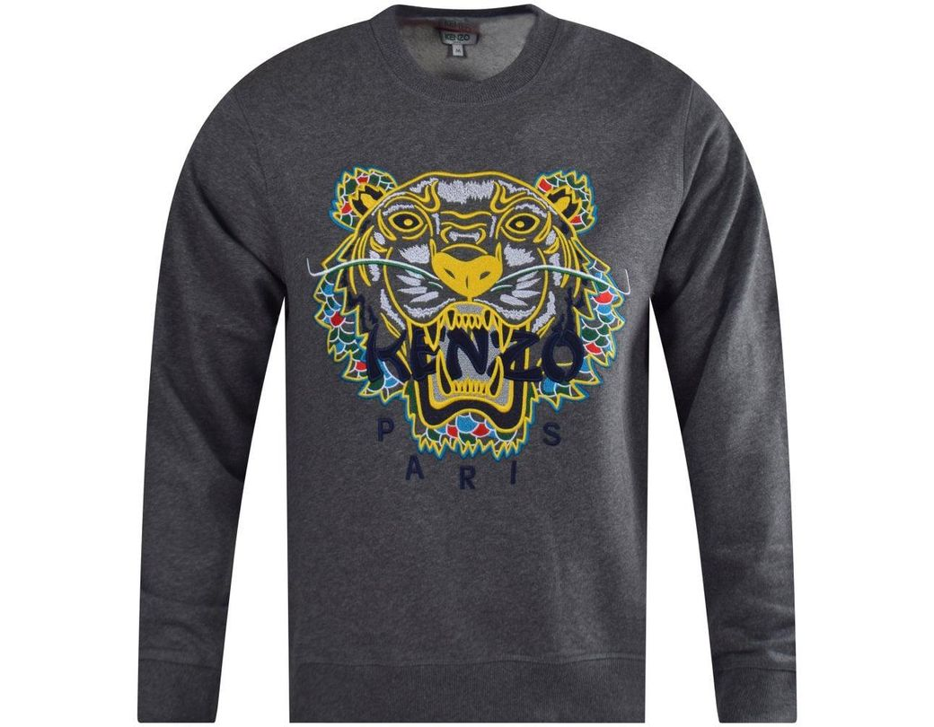 4b2c262e6 Lyst - KENZO Dark Grey Dragon Tiger Sweatshirt in Gray for Men