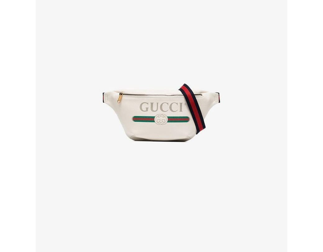 8e23157e935 Long-Touch to Zoom. Long-Touch to Zoom. 1  2  3  4  5. Gucci - Multicolor  White Print Leather Belt Bag ...