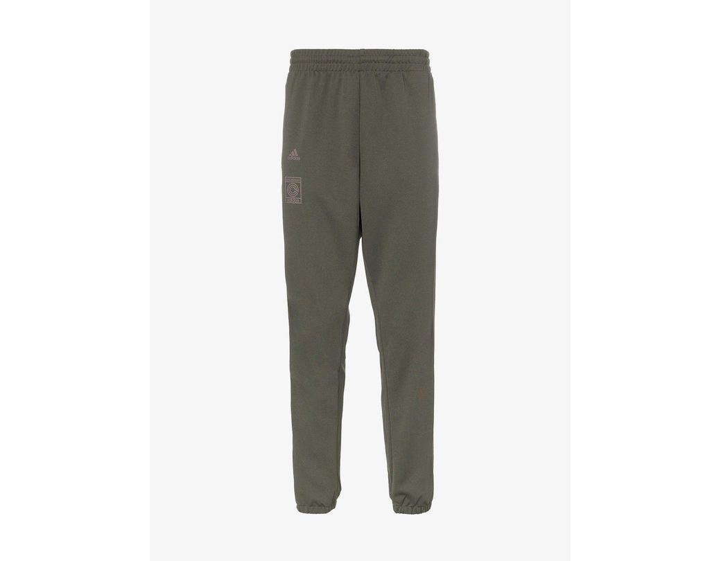 2292228ae Lyst - adidas Calabasas Stripe Print Sweat Pants in Green for Men