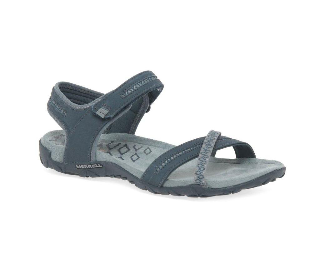 fb359d75e825 Lyst - Merrell Terran Cross Ii Slate Womens Sandals in Gray