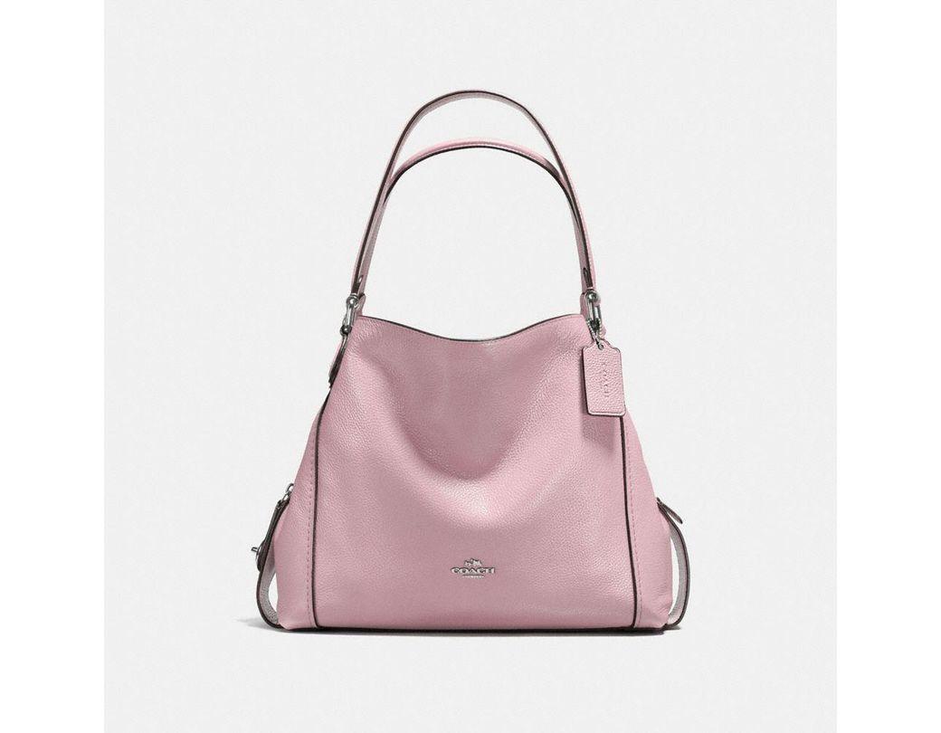 f83a7d40275c6 COACH Edie Shoulder Bag 31 in Pink - Lyst