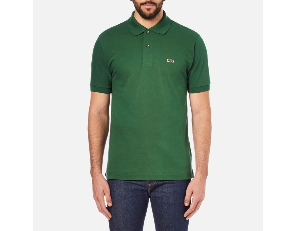 e527fc24 Lacoste Short Sleeve Pique Polo Shirt in Green for Men - Lyst