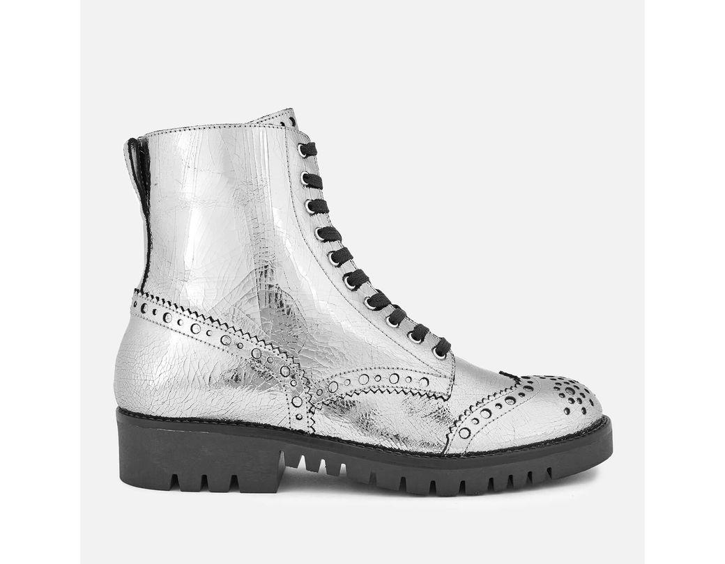6861a7bd4492 Lyst - McQ Bess Derby Boots in Metallic
