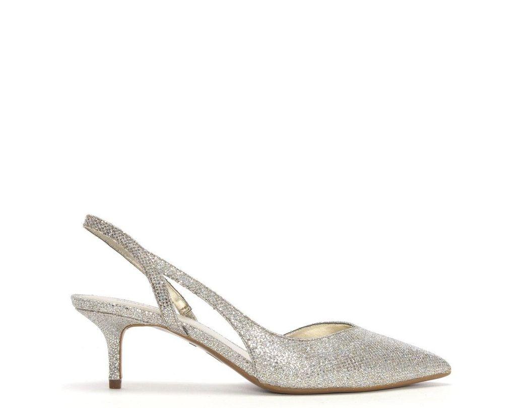 48646009312d Michael Kors. Women s Metallic Eliza Champagne Glitter Sling Back Kitten  Heels