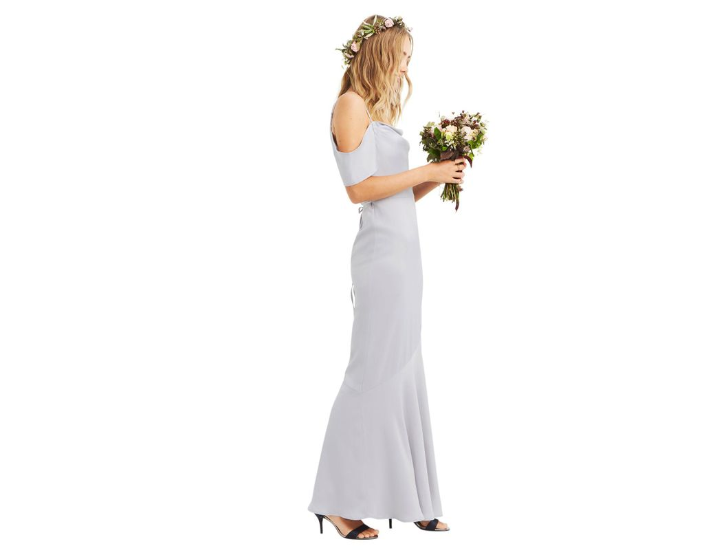 e86949671a Oasis Pale Grey 'amy' Slinky Cowl Maxi Dress in Gray - Lyst