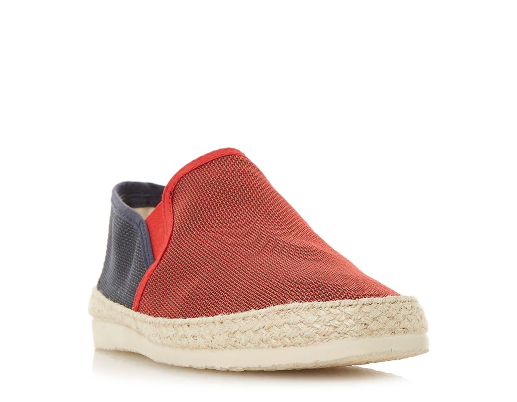 ea83ce02a Dune Red 'fincho' Mesh Woven Espadrilles Shoes in Red for Men - Lyst