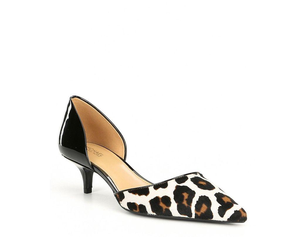 c3b909486122 MICHAEL Michael Kors. Women s Black Alba Leopard Print Flex Kitten Pumps