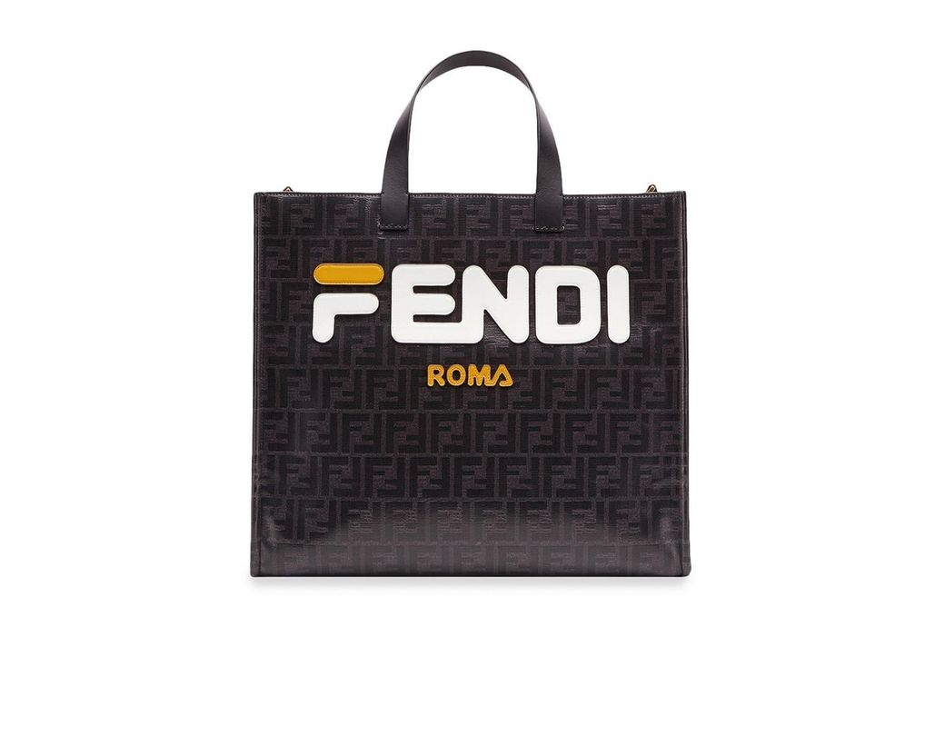 46e494cdafad Lyst - Fendi Mania Shopping S Bag in Black - Save 15%