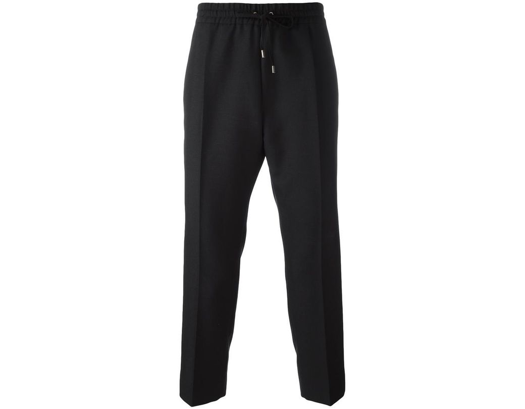 f334a7d180805 Lyst - Gucci Drawstring Cropped Track Pants in Black for Men