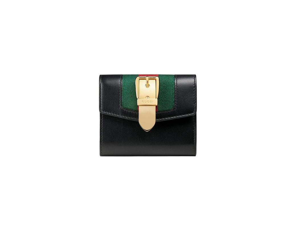 cfe4ef912c9 Lyst - Gucci Sylvie Leather Wallet in Black - Save 6%