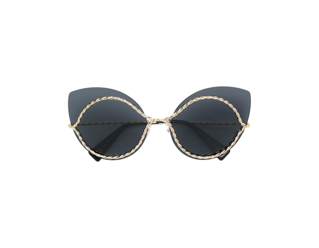 ebefdc51f4f10 Marc Jacobs Cat Eye Sunglasses in Black - Lyst