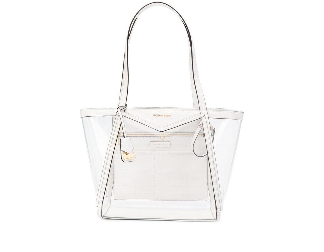 aa3b784191dc21 Lyst - MICHAEL Michael Kors Whitney Tote in White