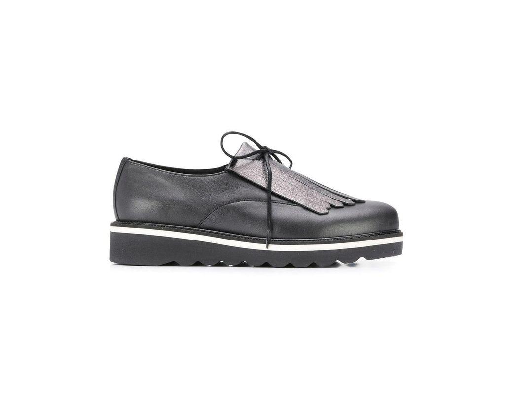 3f2707c68880 Lyst - Tommy Hilfiger Fringed Platform Shoes in Black