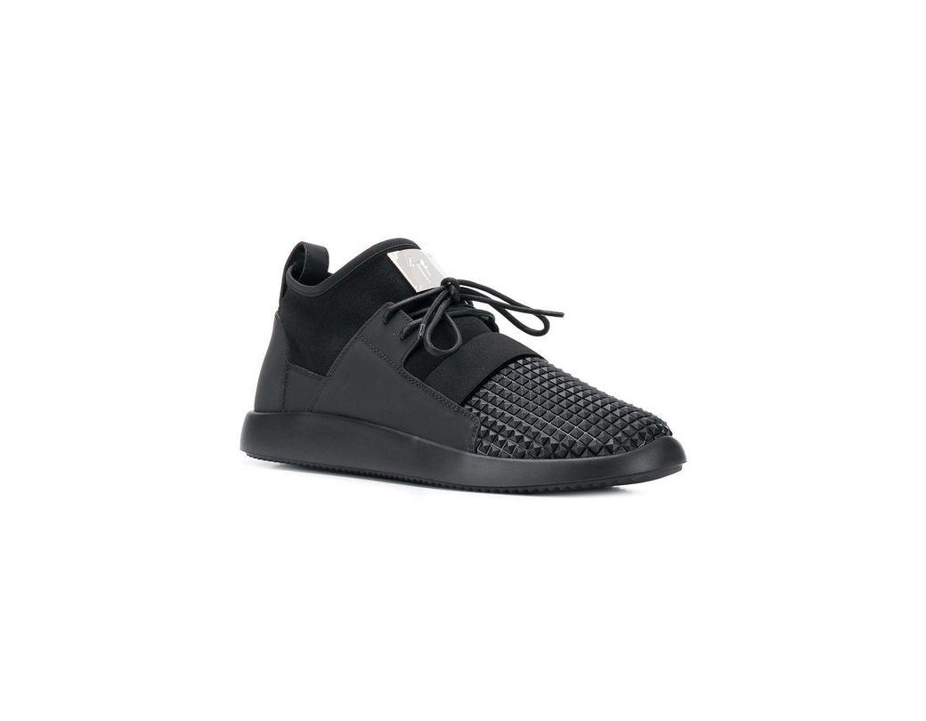 09efc50d7d4d3 Giuseppe Zanotti Scuba Stud Sneakers in Black for Men - Lyst