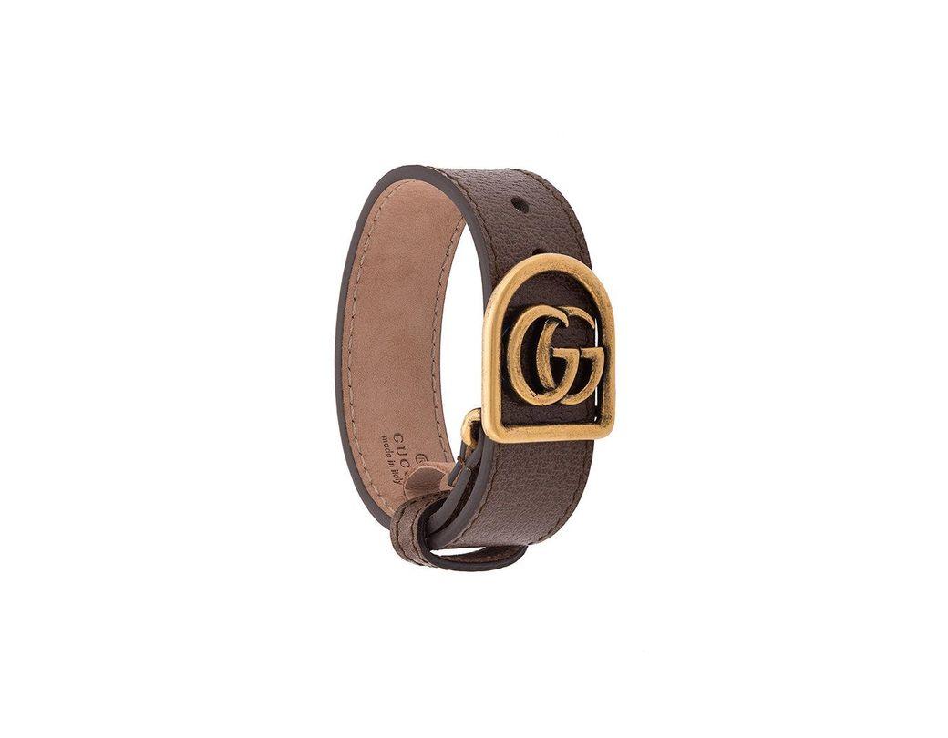 f56afba83 Lyst - Gucci Double G Bracelet in Metallic