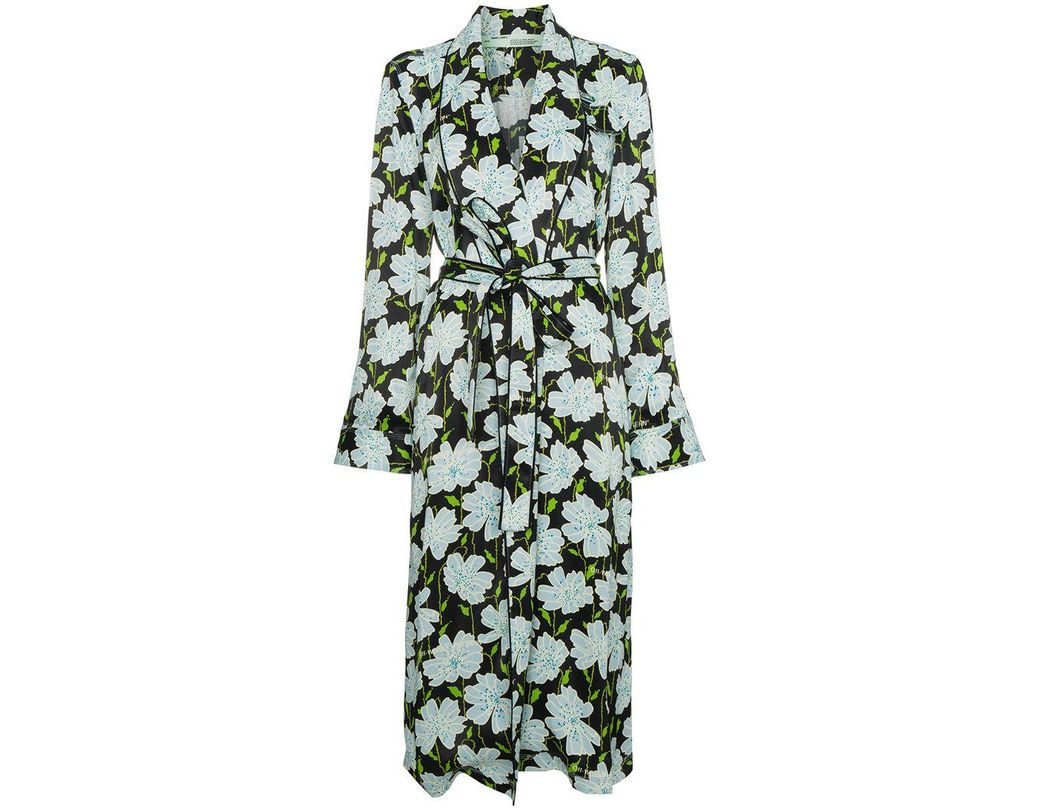 c73bc5f5 Off-White c/o Virgil Abloh Floral Belted Robe Jacket in Green - Save 50% -  Lyst