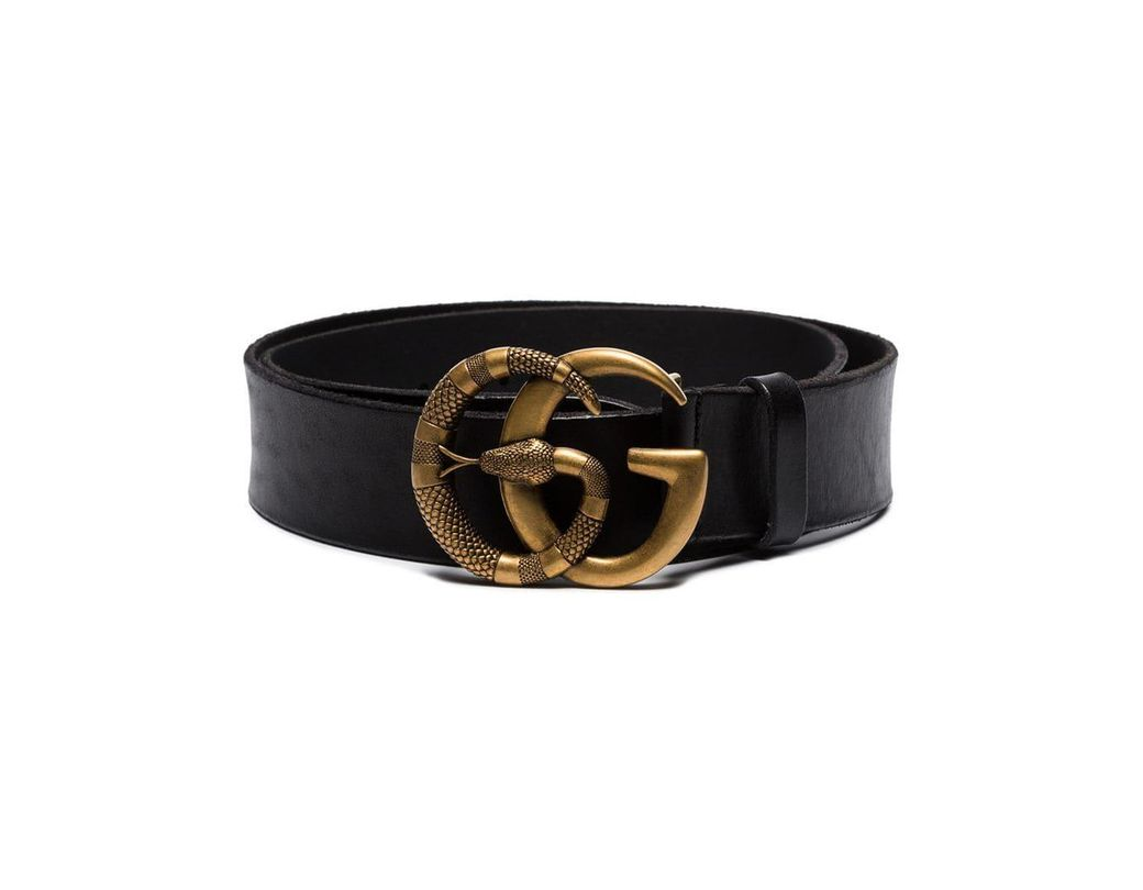 886f3b1365d Lyst - Gucci Double G Snake Buckle Belt in Black for Men