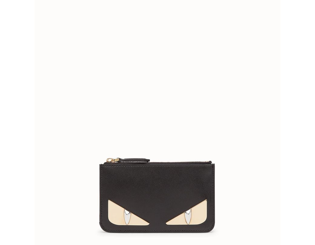 b38c73558c93 Lyst - Fendi Key Ring Pouch in Black