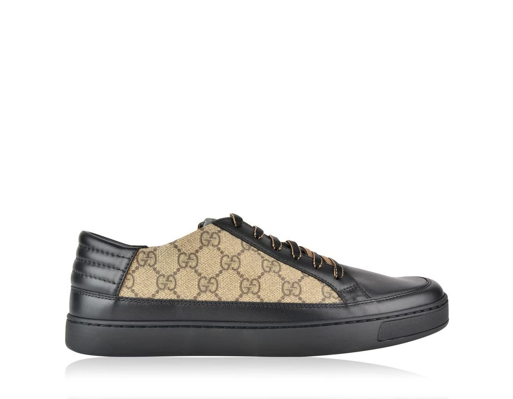 f31ba33e182e7 Lyst - Gucci Common Low Gg Supreme Trainers in Black for Men