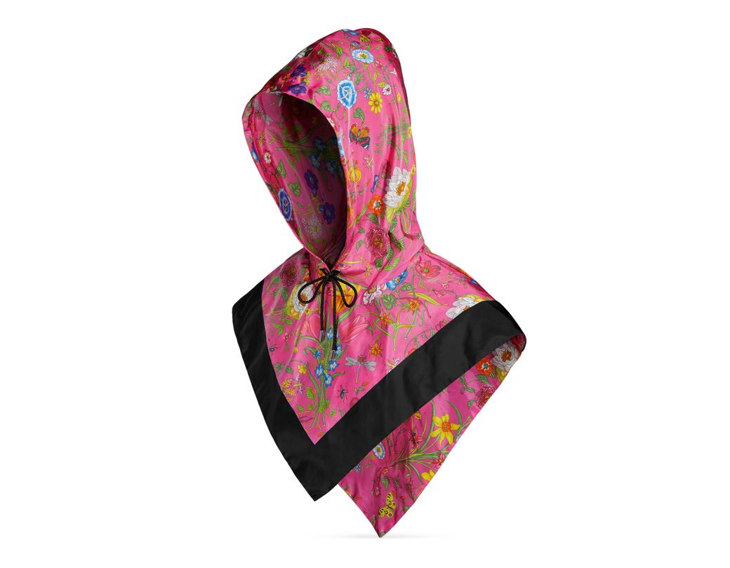 e60bc2d7d5d Gucci Floral-print Shell Hood in Pink - Lyst