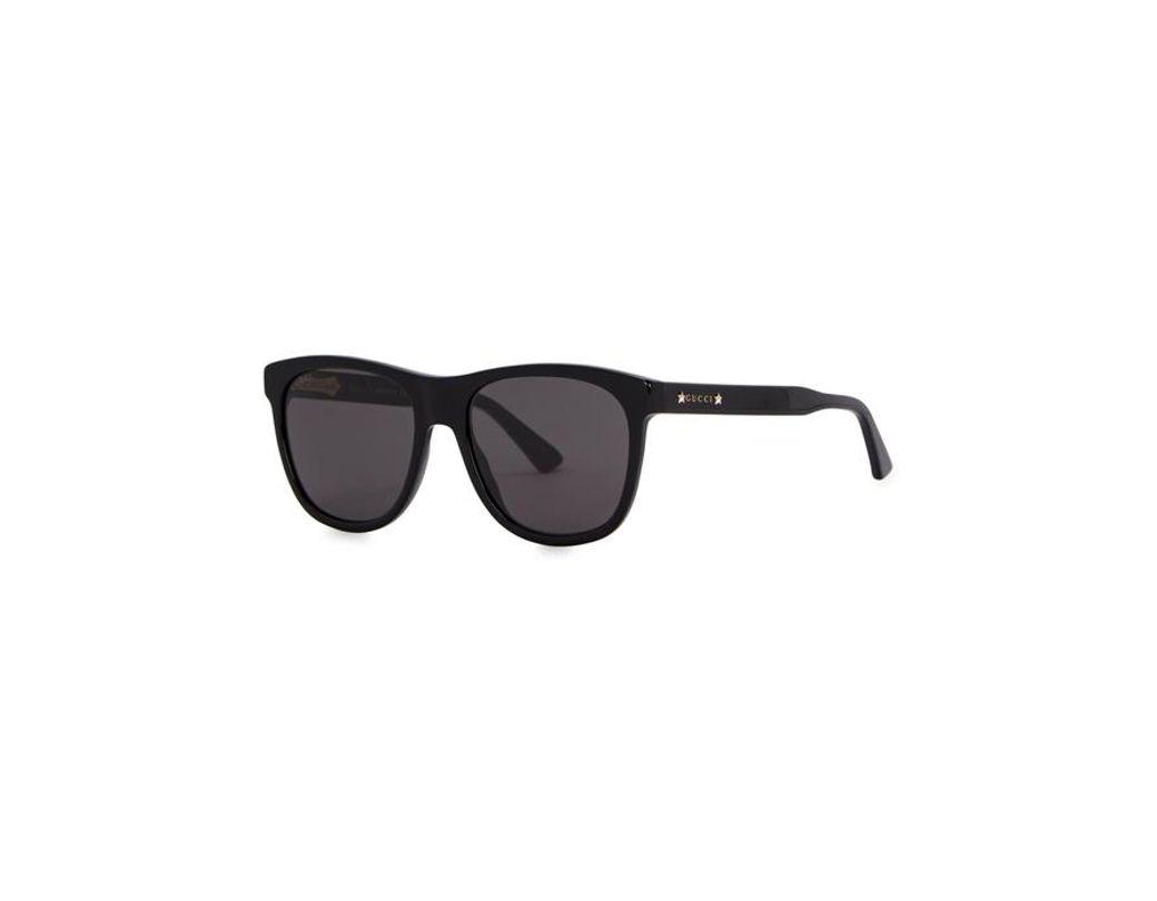 3f19fb08d3 Gucci. Men s Black Acetate Wayfarer-style Sunglasses. £245 From Harvey  Nichols