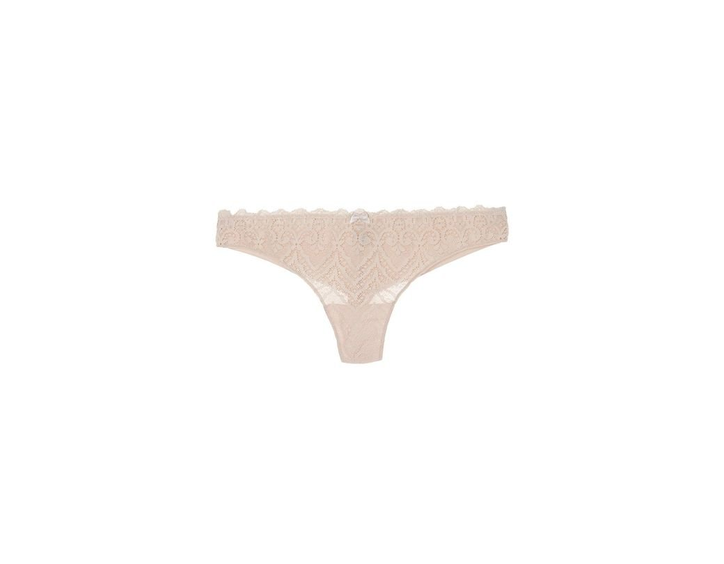 a1eecb24b231 Intimissimi Lace And Microfiber Cheeky Panties in Natural - Lyst