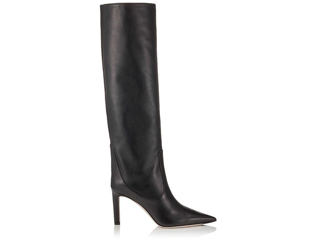 6ab9cc9386b4 Jimmy Choo Black Mavis 85 Boots in Black - Lyst