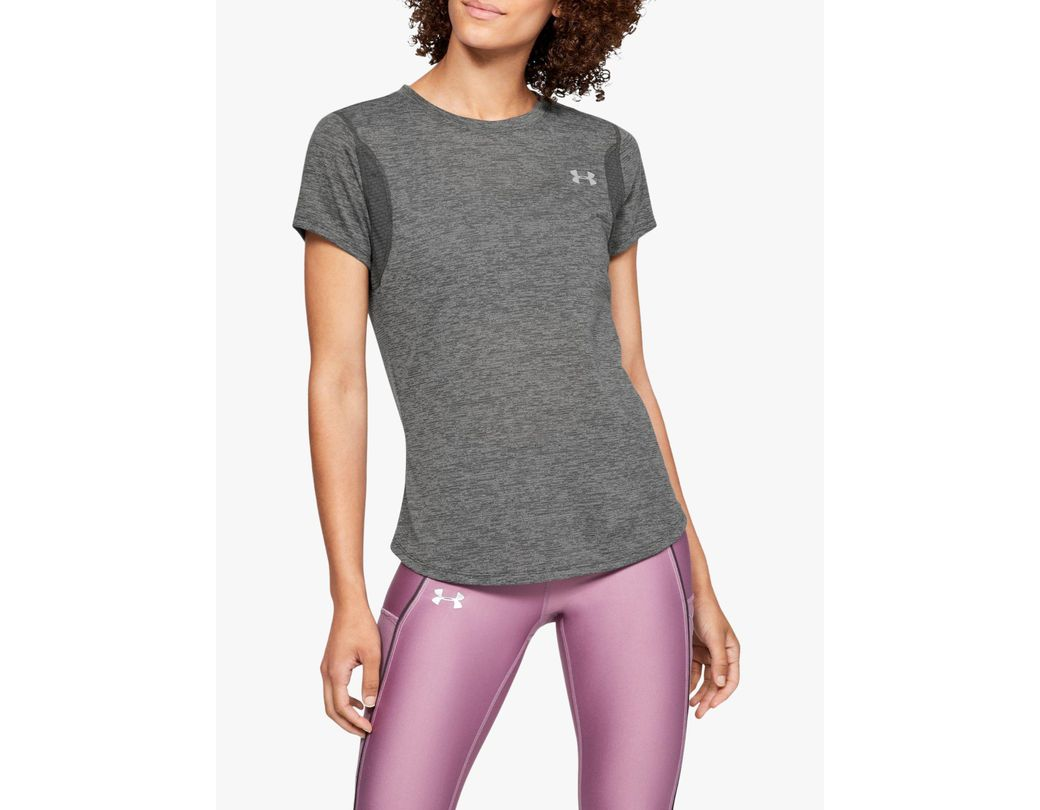 Under Armour Womens Streaker Long-Sleeve Top Black Sports Gym Running Breathable