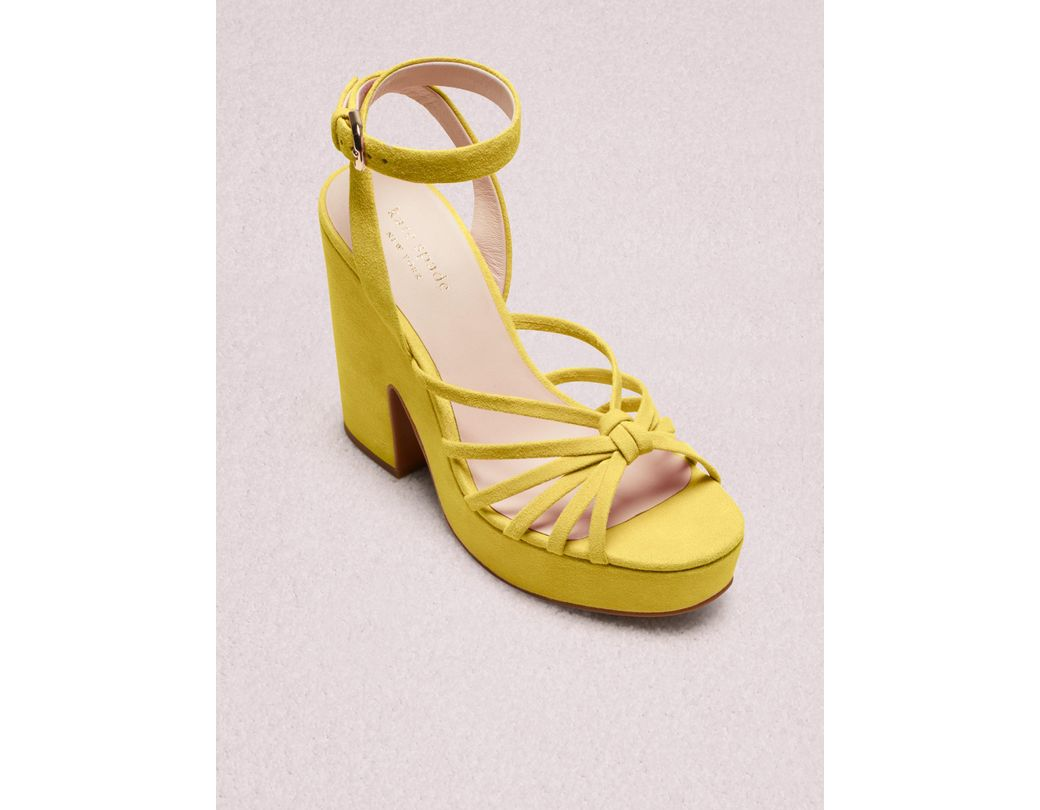 425a21b89e7e Kate Spade. Yellow Women s Glenn Strappy Platform Sandals.  268  214 From kate  spade new york