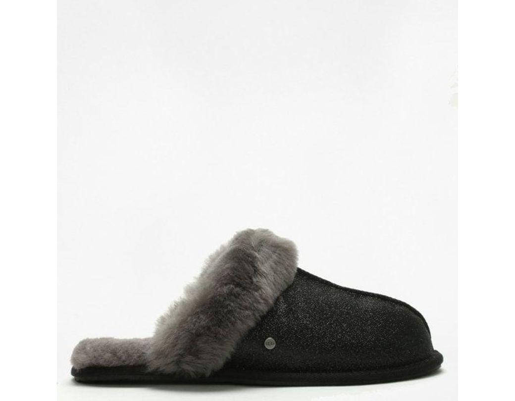 9cf6038bf1e Lyst - UGG Womens Scuffette Ii Sparkle Black Slippers in Black