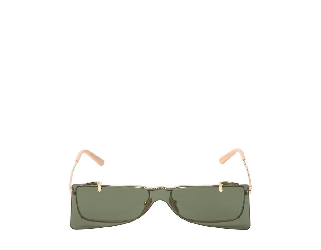 5798939d6b8 Gucci Double Lens Sunglasses in Black - Lyst