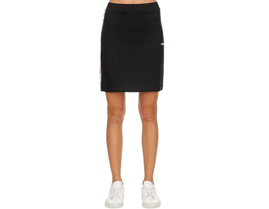 25bcf9f3a Fila Maha Logo Side Band Skirt in Black - Lyst