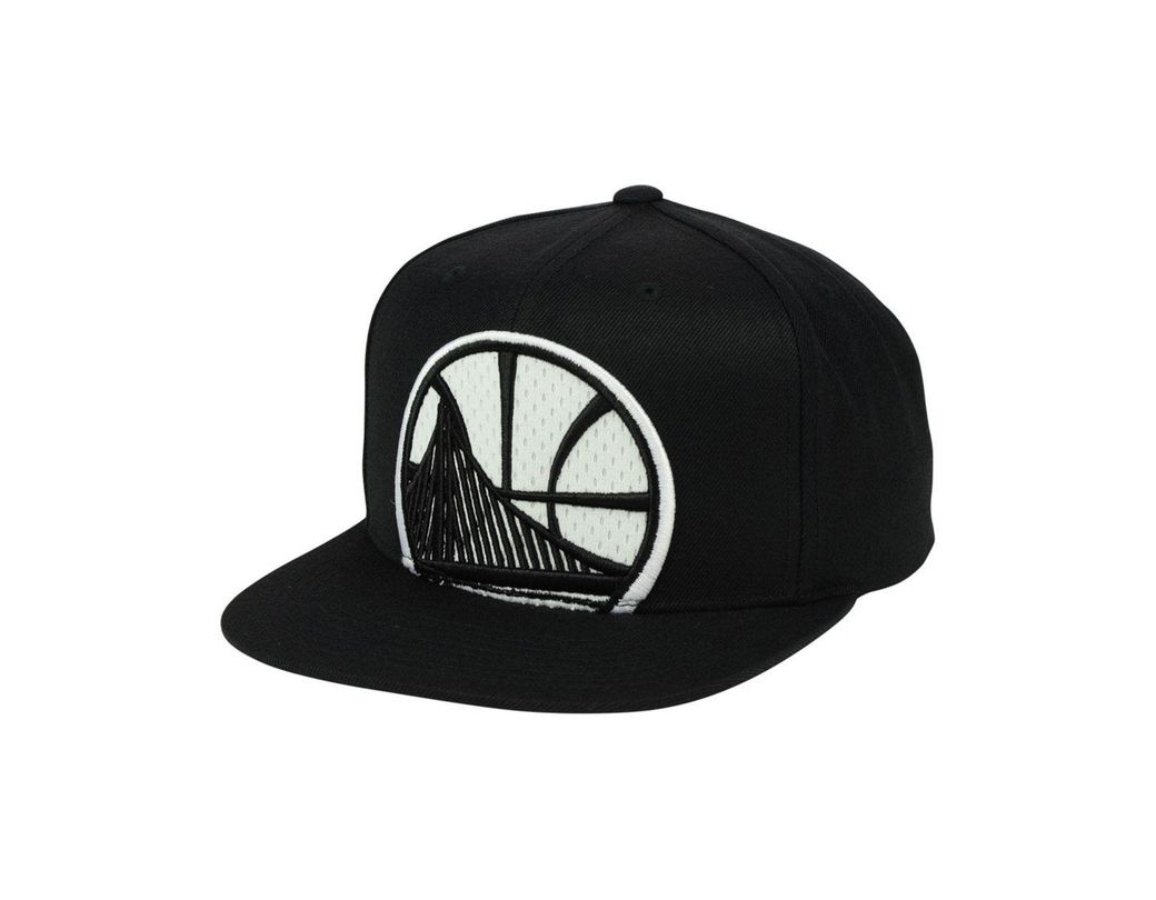 914e8c61eb730 Lyst - Mitchell   Ness Golden State Warriors Xl Mesh Crop Snapback Cap in  Black for Men